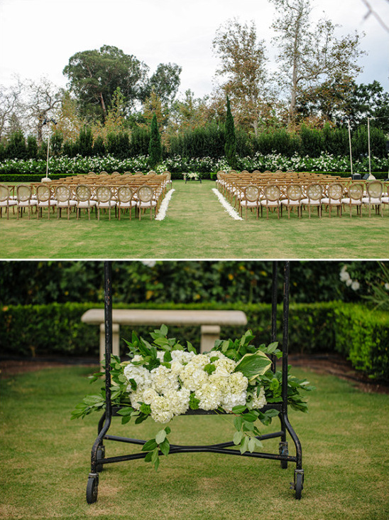 beautiful outdoor garden ceremony @weddingchicks
