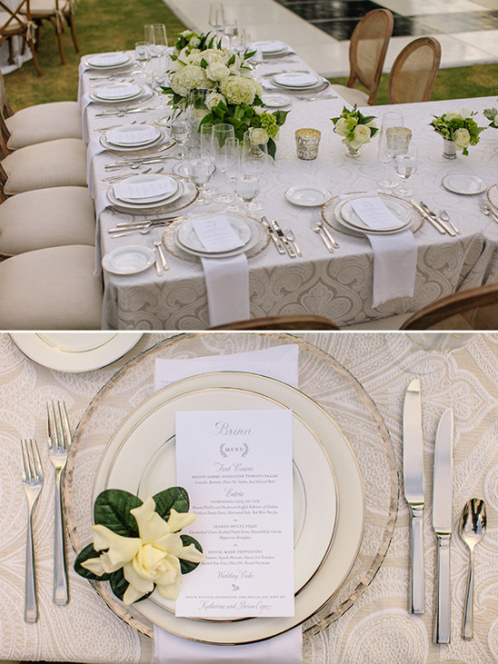 gold and ivory wedding reception @weddingchicks