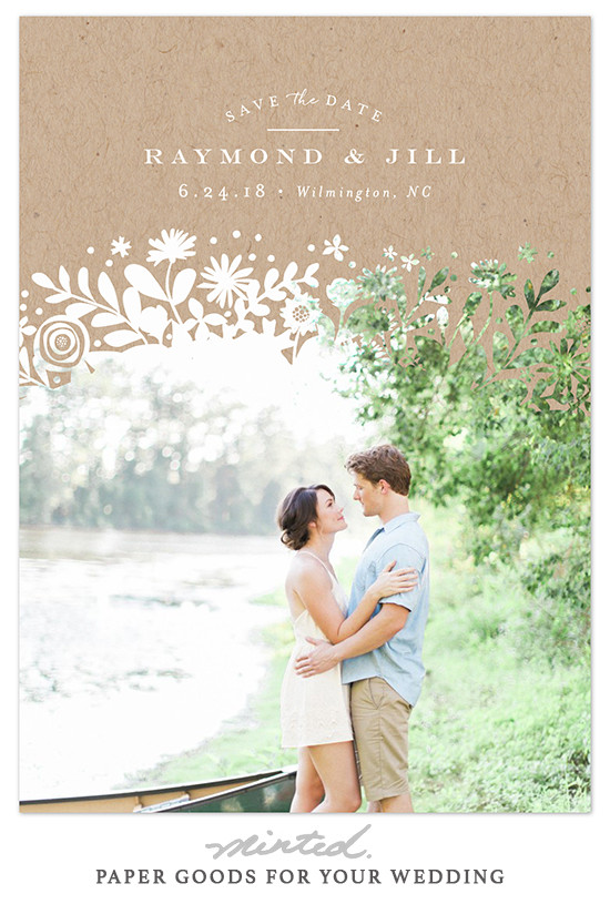 super cute photo card save the dates from @minted
