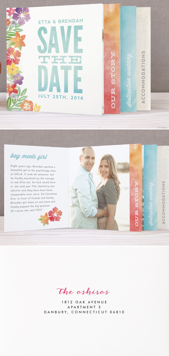 The Tropical Save The Date Minibook from @minted