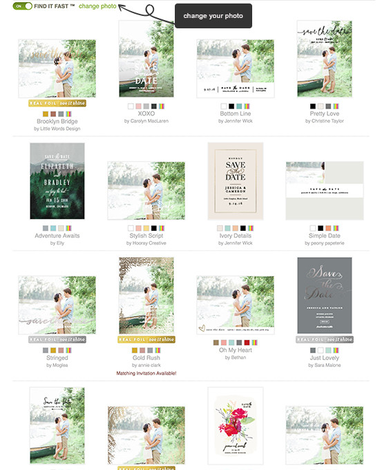 see your photos on tons of save the dates from @minted