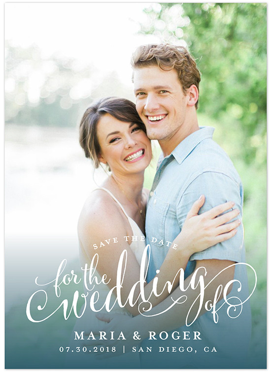 save the date wedding invites from @minted
