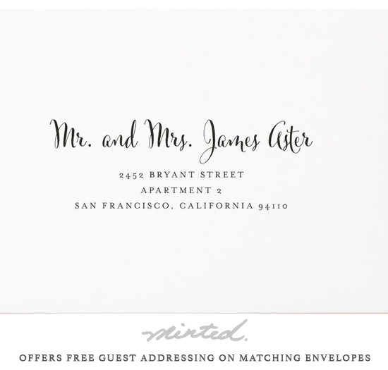 Free addressing from @minted