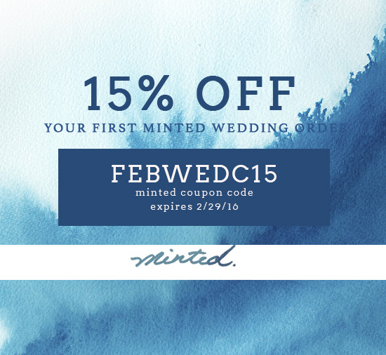 minted coupon code @weddingchicks