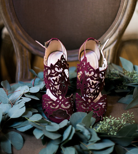 burgundy laser cut wedding shoes wedding chicks