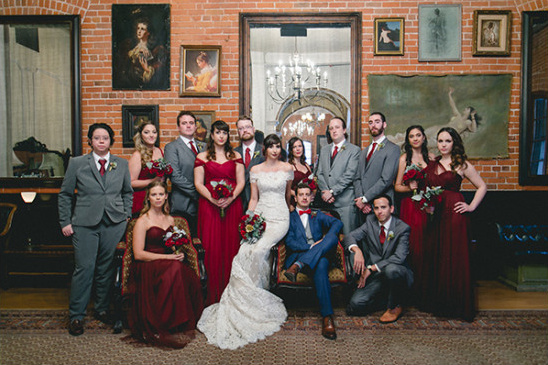 blue and red bridal party @weddingchicks