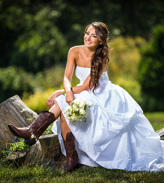 Wedding Boot Bling from Redneck Couture @weddingchicks
