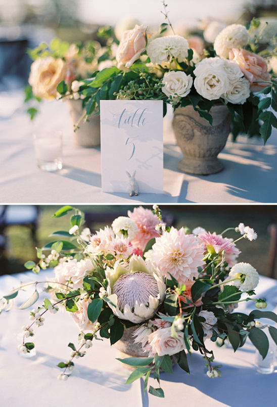 beautiful floral centerpieces @weddingchicks