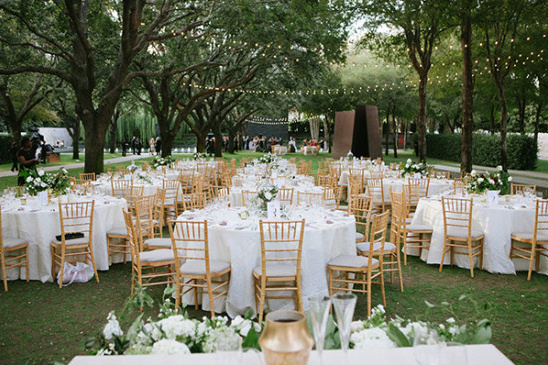 sculpture garden reception @weddingchicks