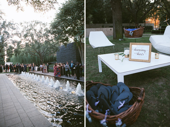 modern art garden venue @weddingchicks