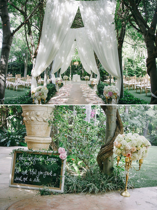 outdoor wedding ceremony @weddingchicks