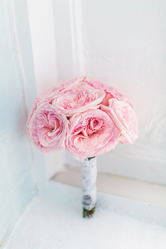 pink rose bouquet @weddingchicks