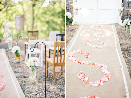 wedding ceremony floral aisle decor @weddingchicks