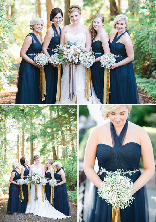 bridesmaids in navy @weddingchicks