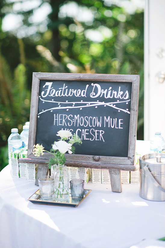wedding drink signs @weddingchicks