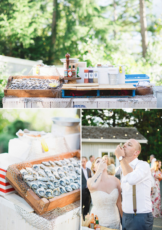 diy wedding oyster bar @weddingchicks