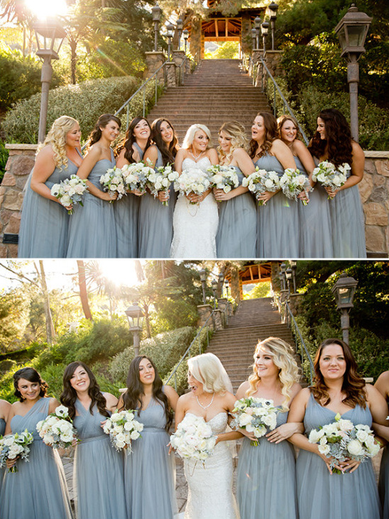 bridesmaids in grey @weddingchicks