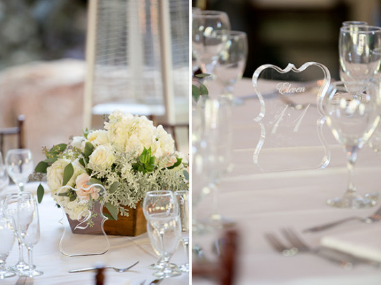 glass table numbers @weddingchicks