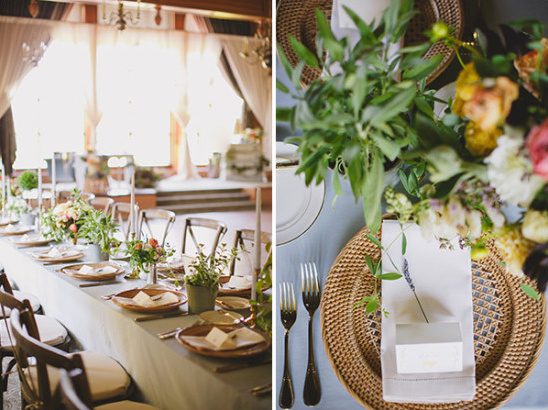 beautiful natural wedding reception @weddingchicks