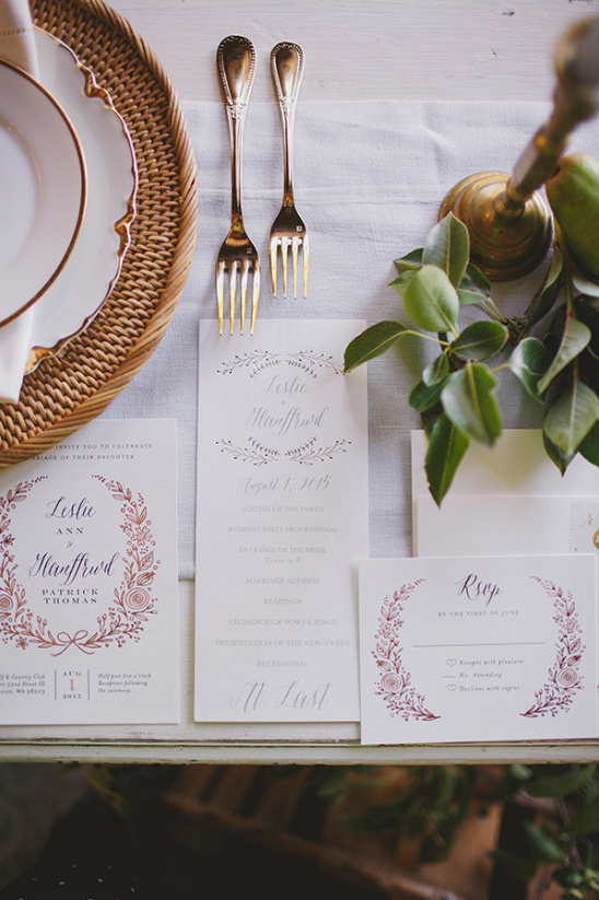 classic wedding stationery @weddingchicks