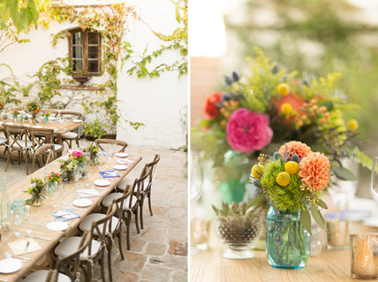 bright and colorful villa reception