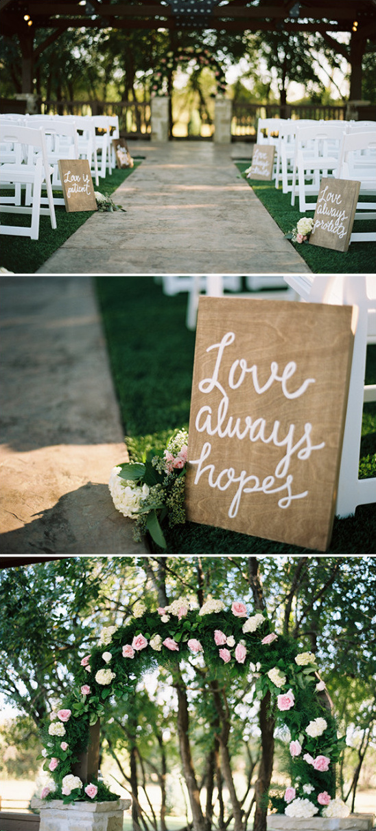 romantcoutdoorweddingceremonydetails