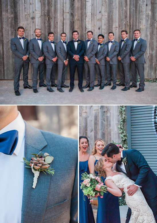 formal groomsmen in grey