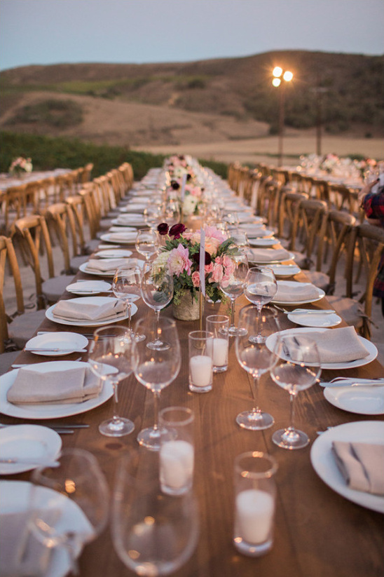 rustic outdoor wedding reception