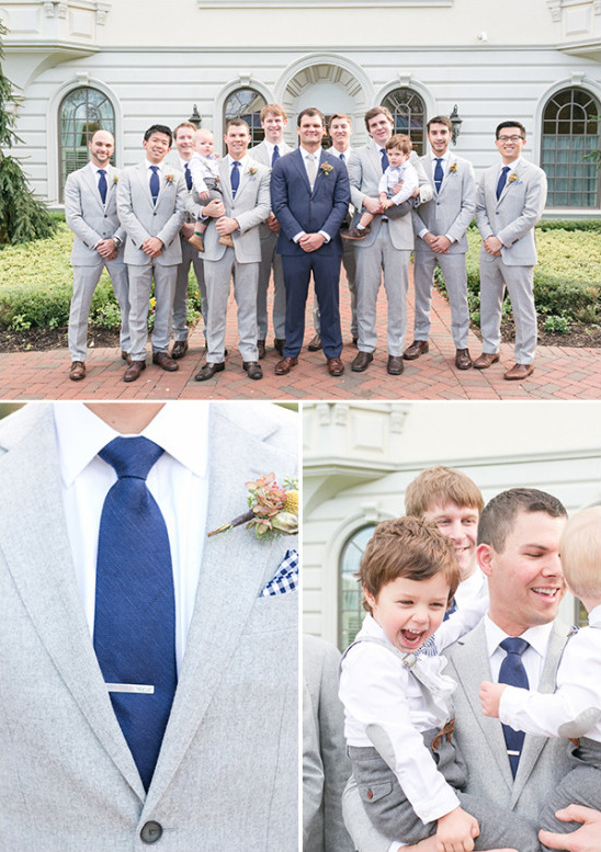 grey and blue groomsmen