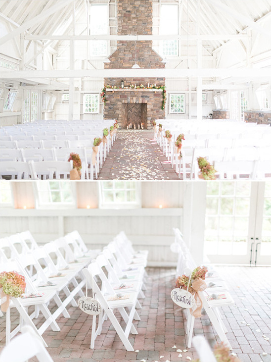 bright white barn wedding