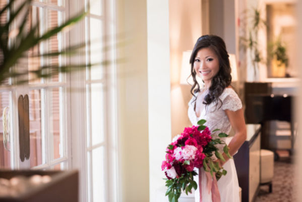 Glam Shades of Pink Wedding