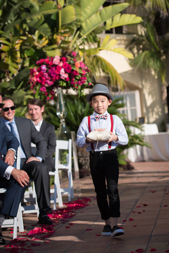Cute ring bearer outfit with hat