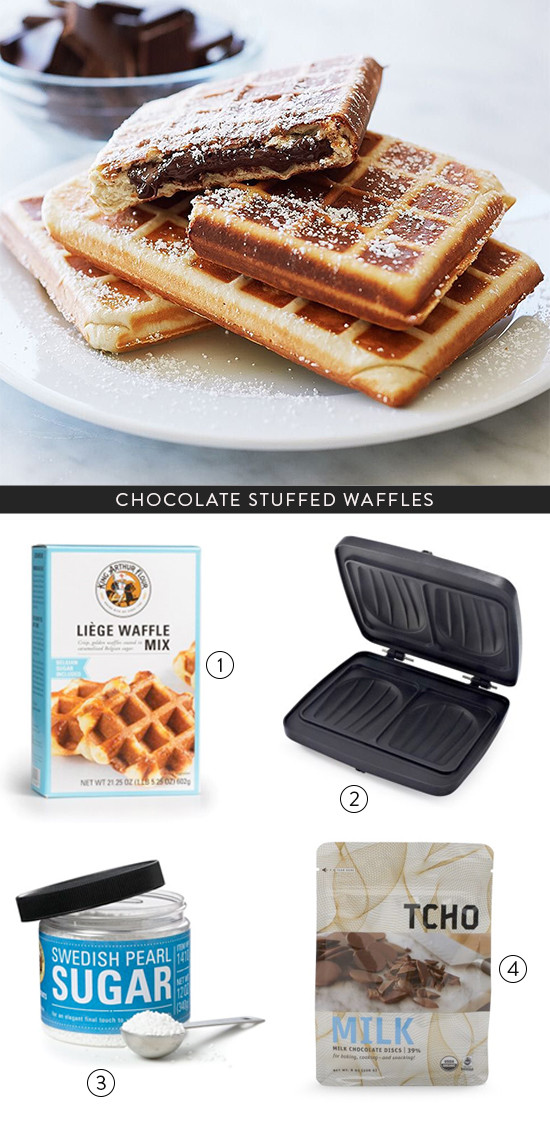 choloate stuffed waffles
