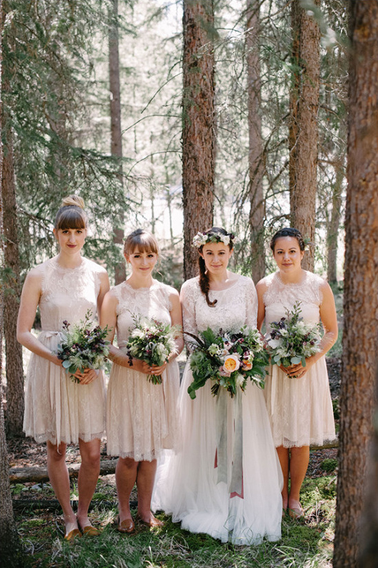 light cream bridesmaids dresses