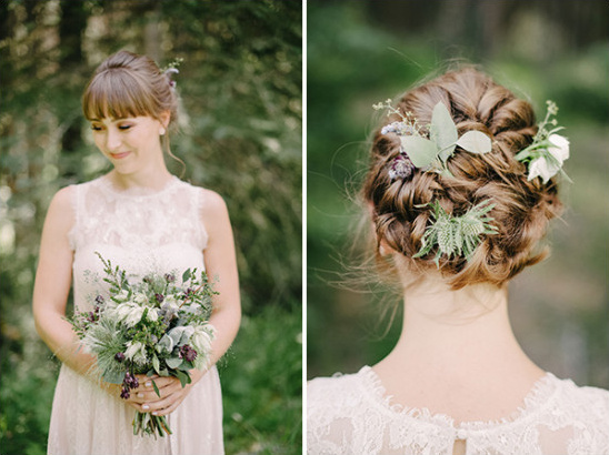 beautiful bridesmaid style with flowers