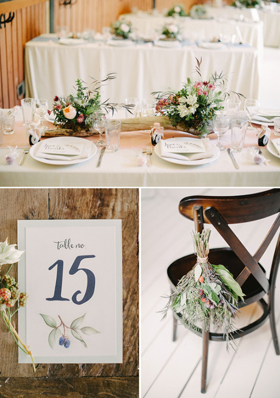 mountain wedding reception decor ideas