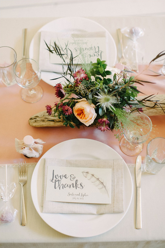 mountain wedding table setting