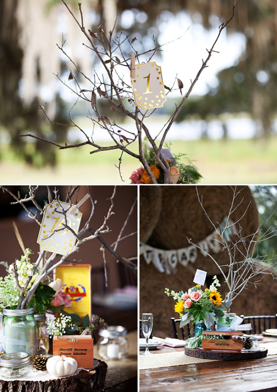 rustic organic table number