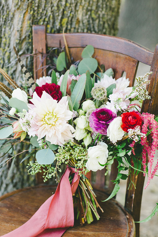 pink white and red bouquet