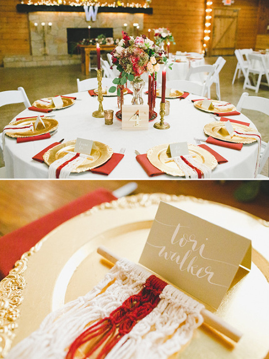 gold and red reception ideas