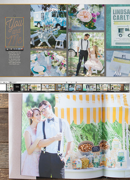 DIY weddingbook from Mixbook