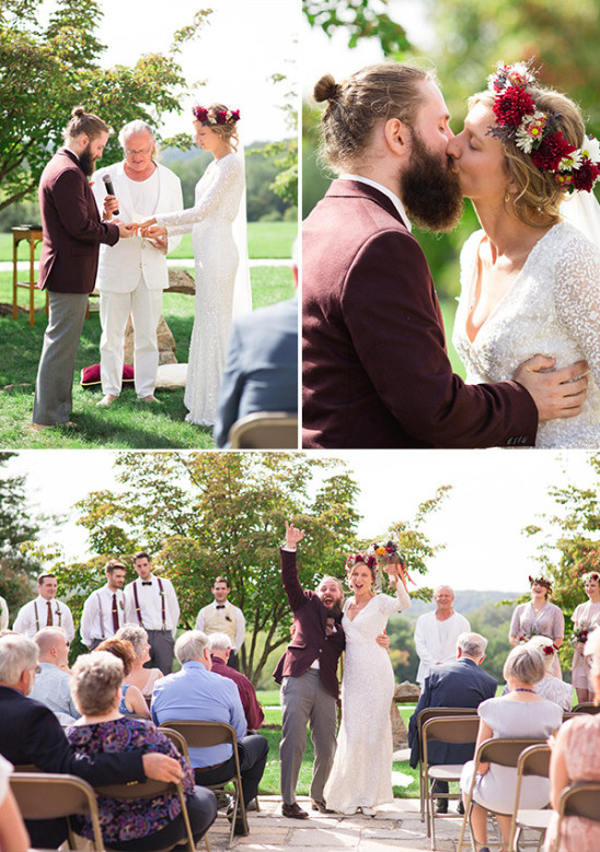 Romantic outdoor ceremony I dos