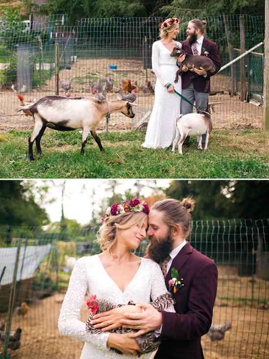 Farm wedding photo idea