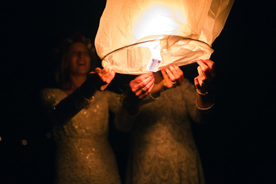 Wedding Lantern Send Off