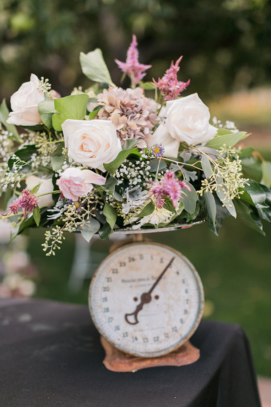 vintage scale flower decor