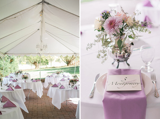 purple wedding reception ideas