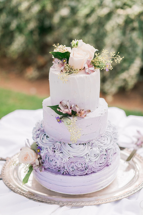 ombre purple wedding cake