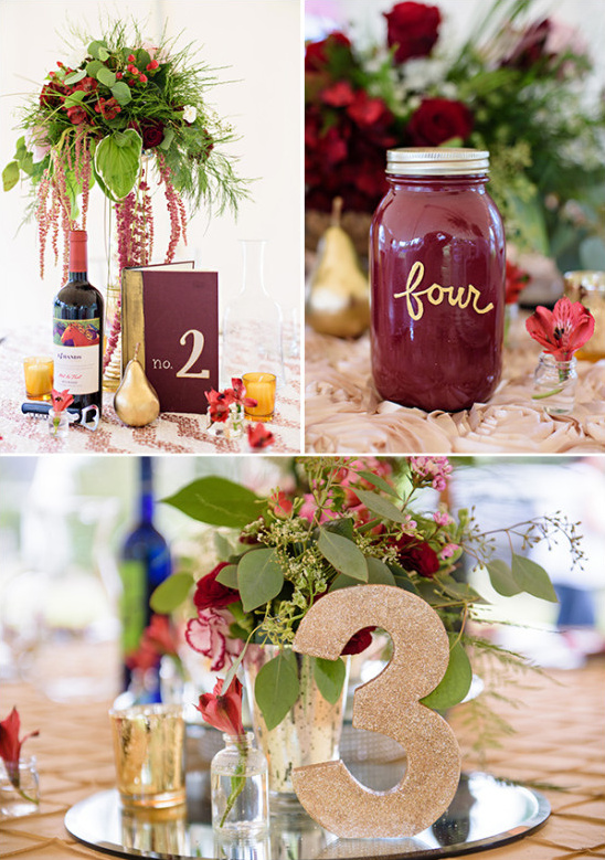 mix and match table number ideas