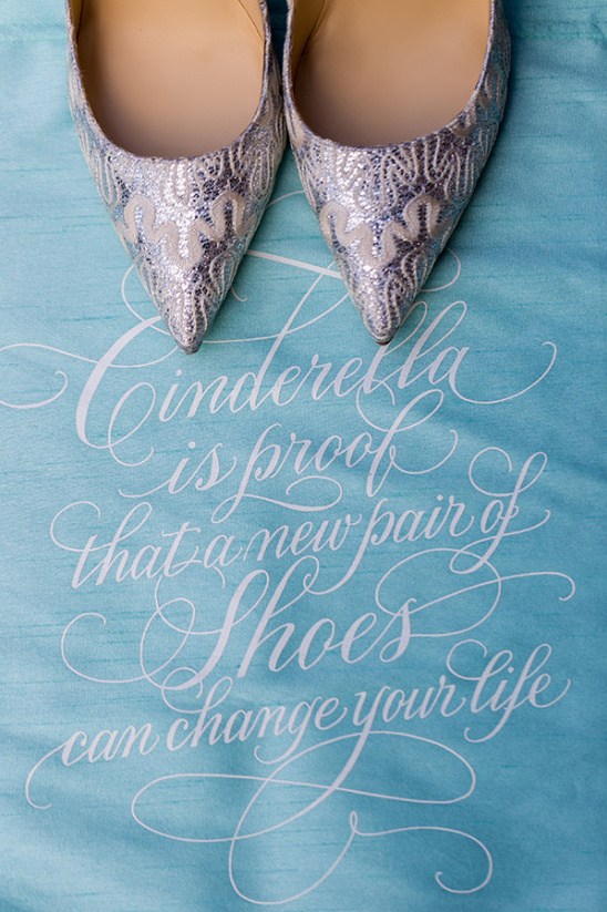 Wedding shoes and Cinderella quote