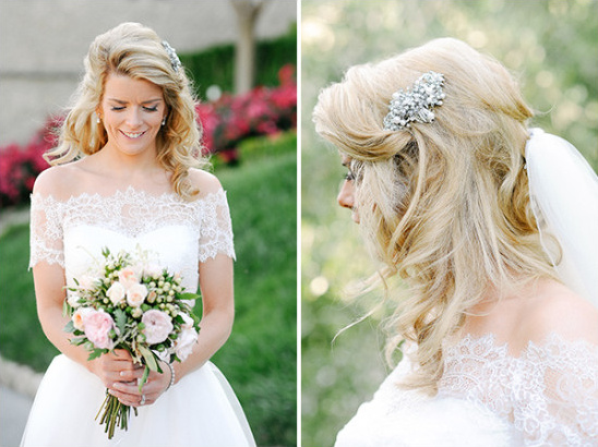 Bridal make and hair details